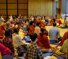 group-meditating