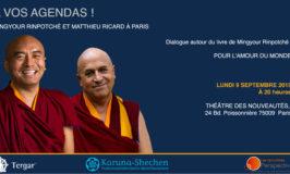 Mingyur Rinpoché à Paris pour son nouveau livre